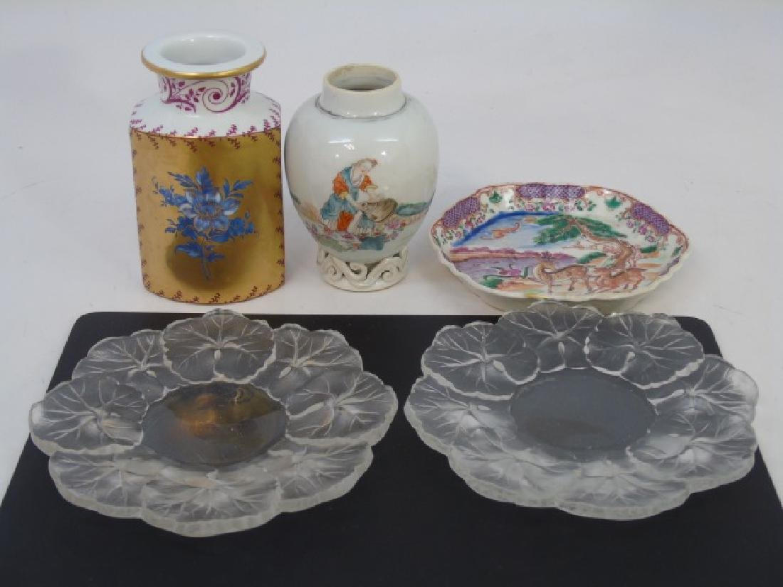 Assorted Antique Chinese & French Porcelain Items