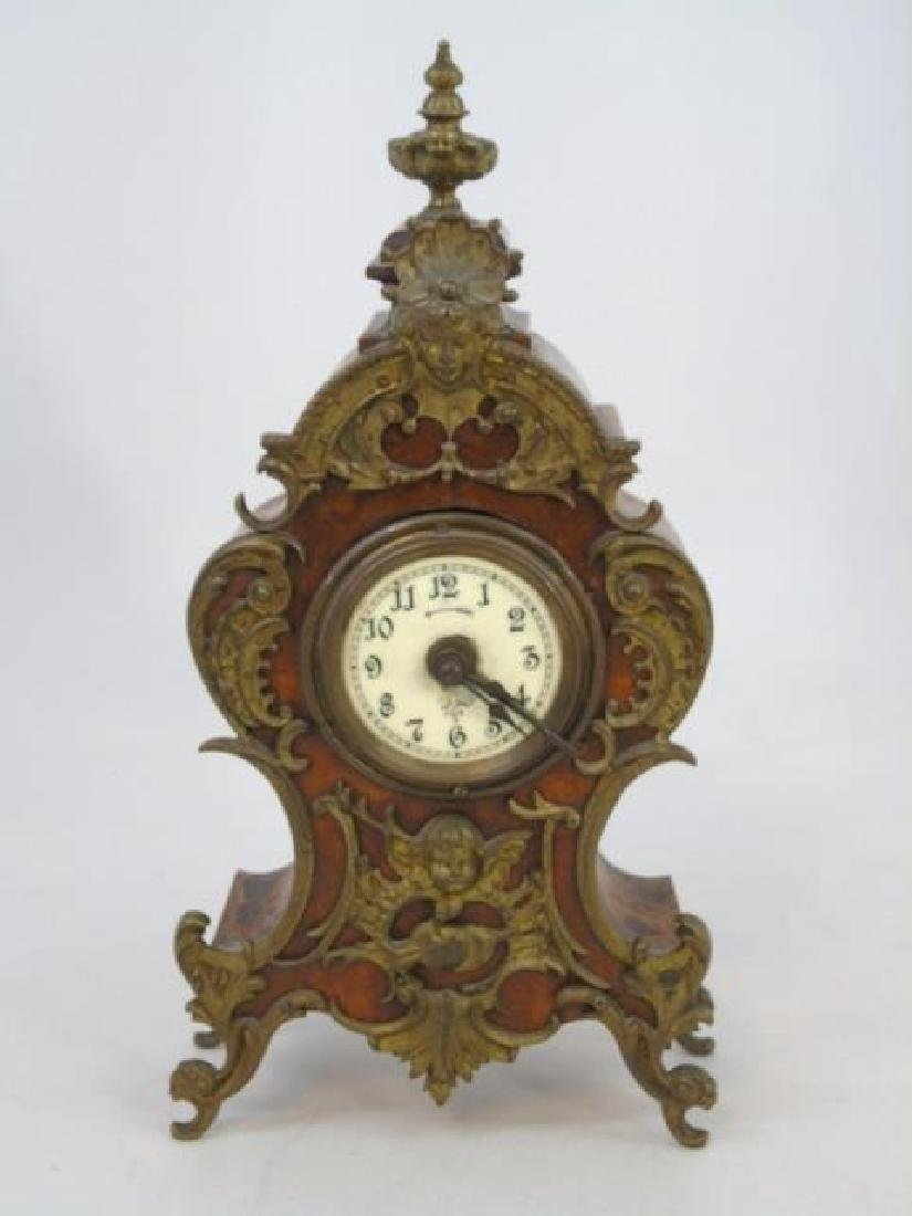 Antique Lenzkirch French Style Mantle Clock