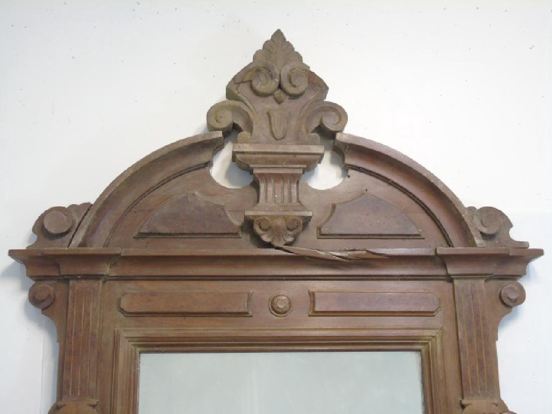 Antique 19th C Hall Stand Console w Mirror - 2