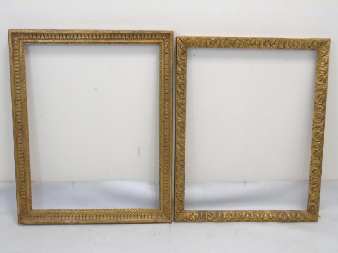 Two Carved Wood Gold Leaf Decorated Frames