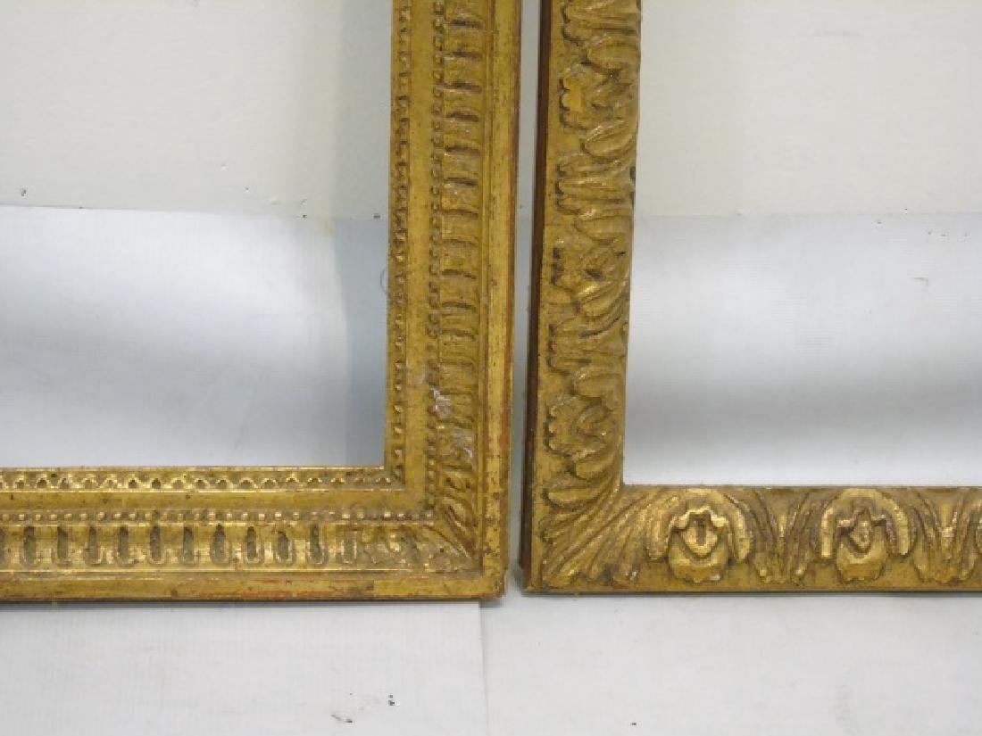 Two Carved Wood Gold Leaf Decorated Frames - 2