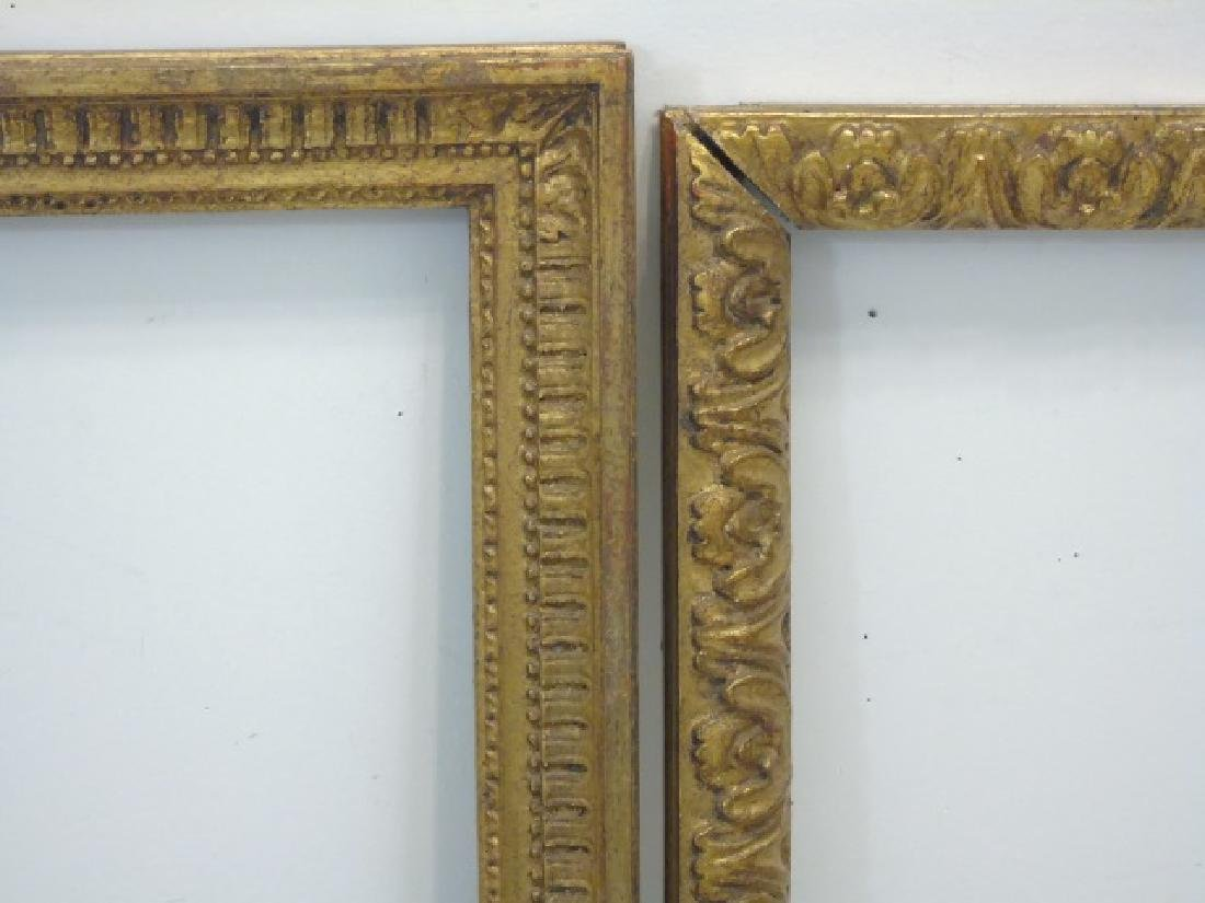 Two Carved Wood Gold Leaf Decorated Frames - 3