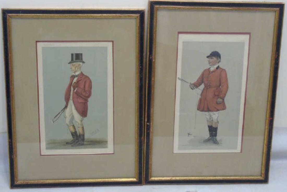 Pair 19C Spy Vanity Fair Prints of Fox Hunt Master
