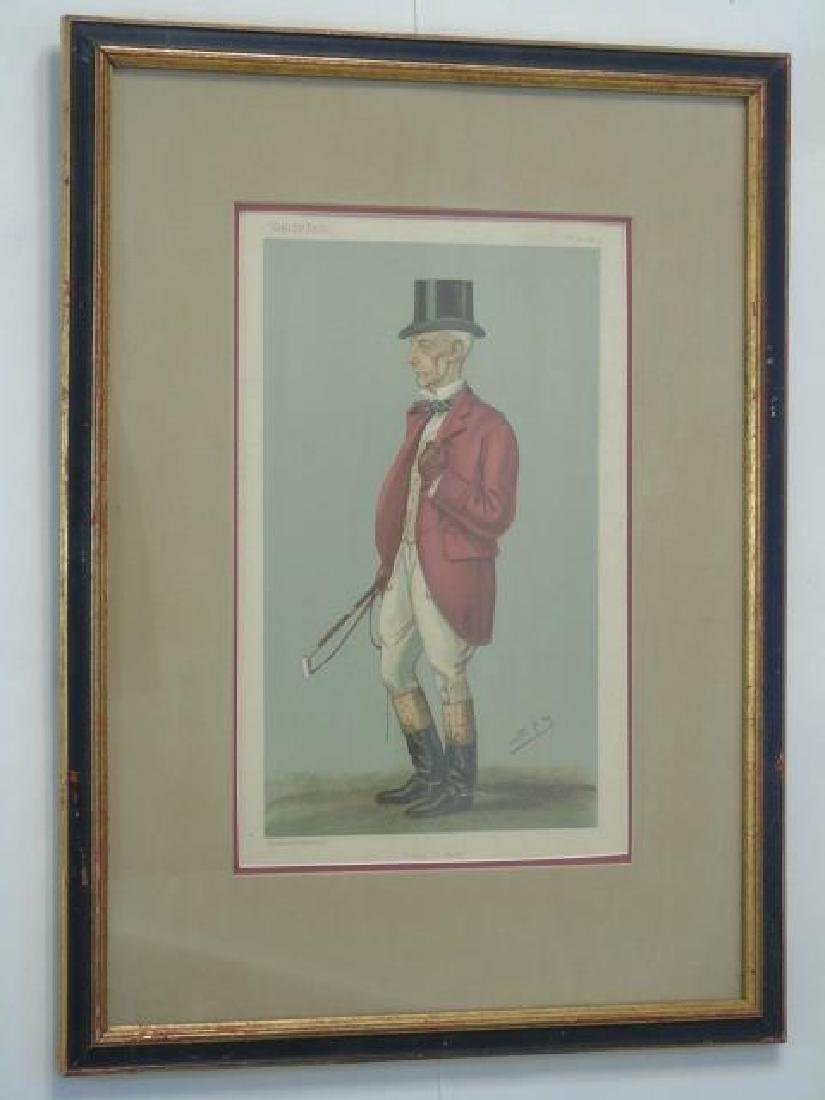 Pair 19C Spy Vanity Fair Prints of Fox Hunt Master - 2