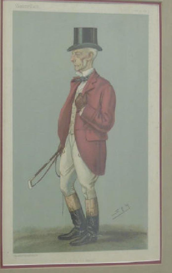 Pair 19C Spy Vanity Fair Prints of Fox Hunt Master - 3
