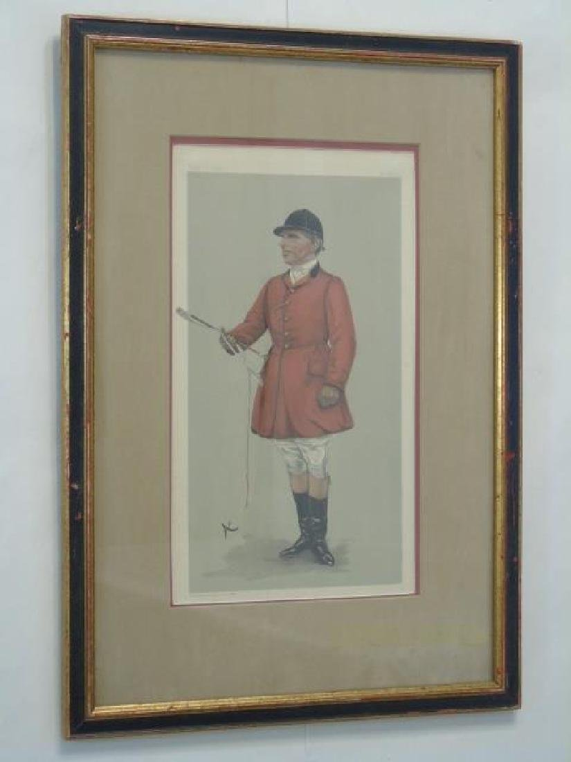 Pair 19C Spy Vanity Fair Prints of Fox Hunt Master - 5