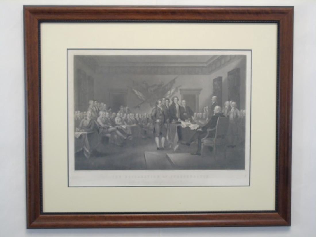 Framed Engraving - Declaration of Independence