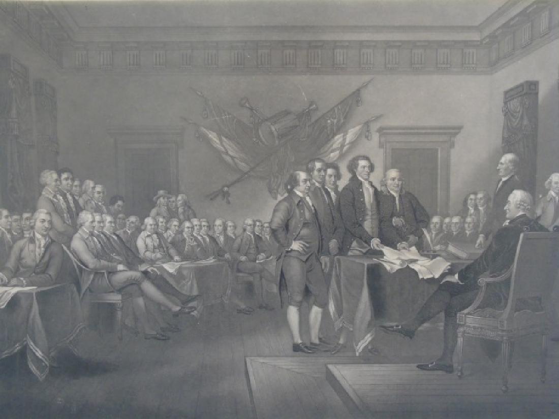 Framed Engraving - Declaration of Independence - 2