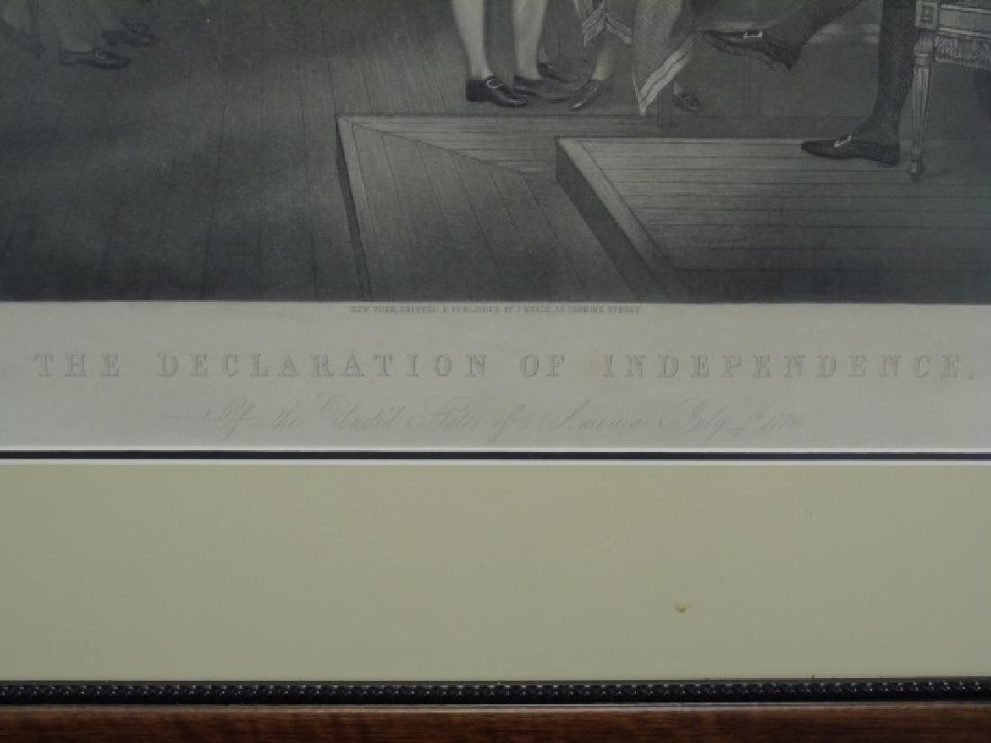 Framed Engraving - Declaration of Independence - 3