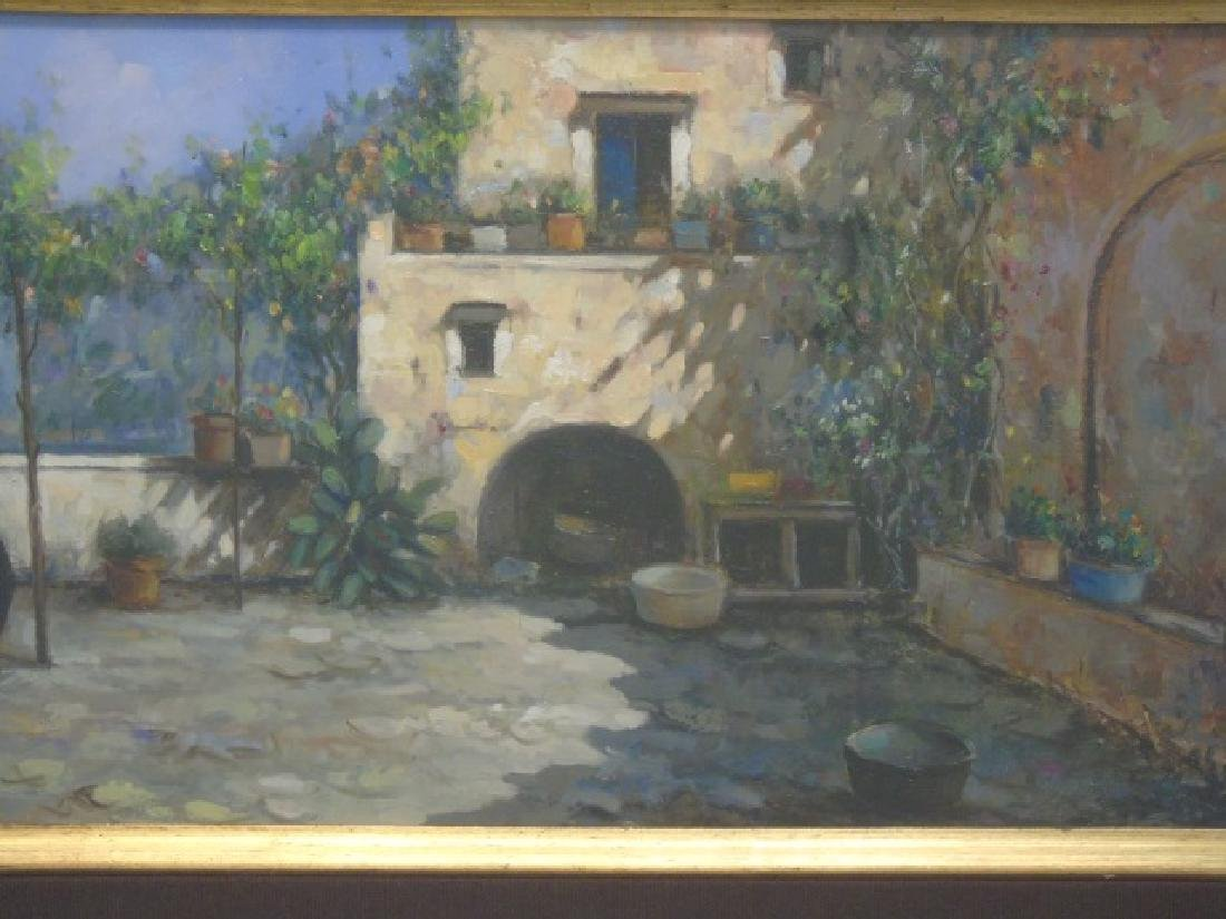 Rosario Palumbo Signed Painting on Wood - 2
