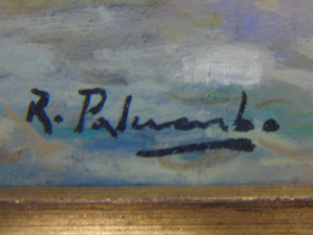 Rosario Palumbo Signed Painting on Wood - 4