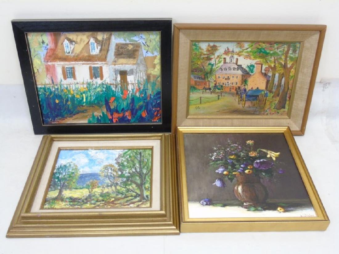 Collection of Colorful Paintings, Canvas & Wood - 4