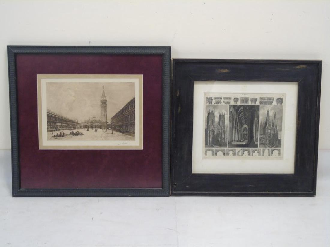 Collection of 9 Pieces with Architectural Subjects - 6