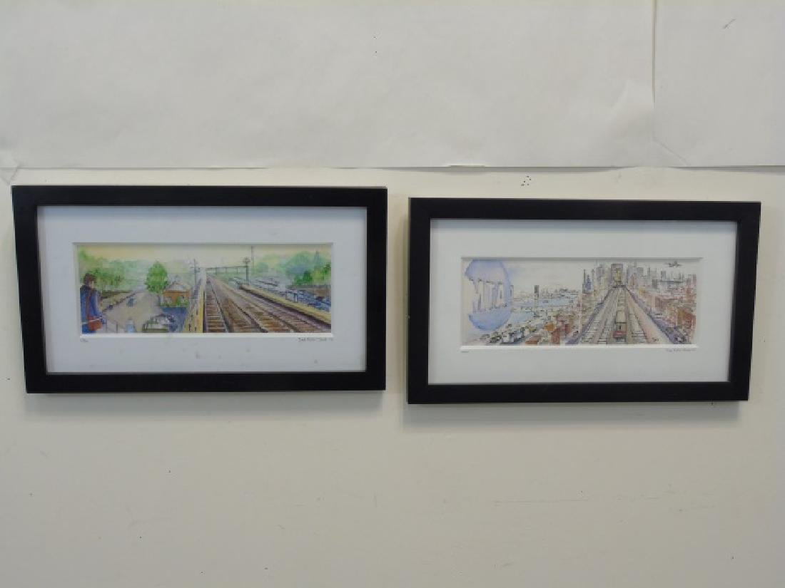 4 Metro-North Commuter Signed Colored Sketches - 2