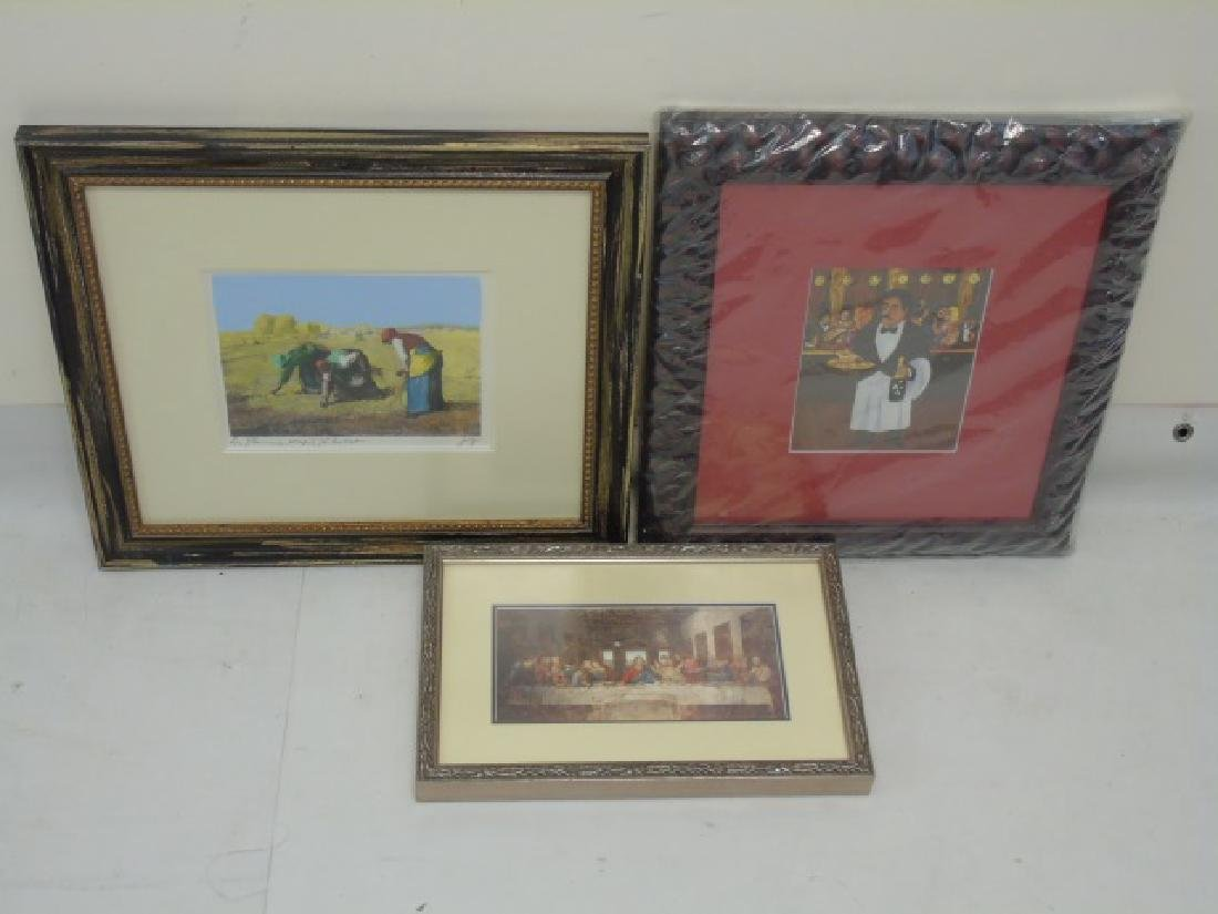 5 European-Inspired Framed Art Pieces - 3