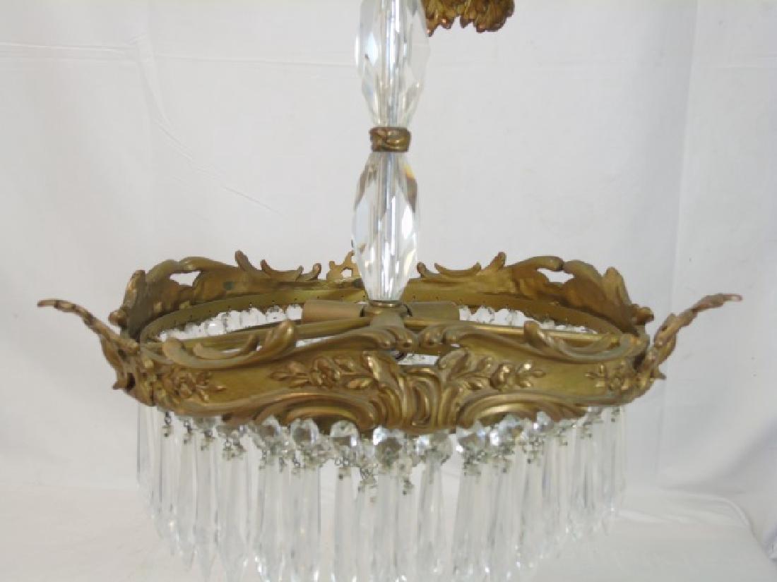 Bronze & Crystal Drop Tiered Chandelier - 2