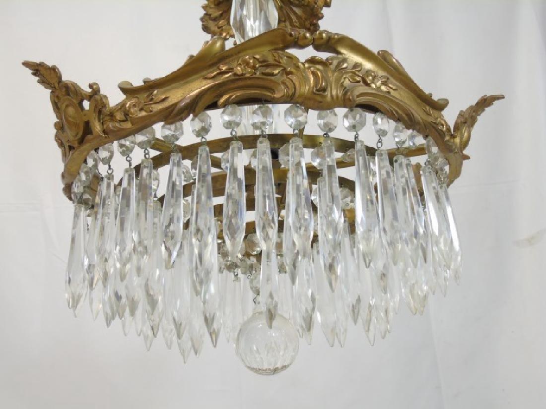 Bronze & Crystal Drop Tiered Chandelier - 3