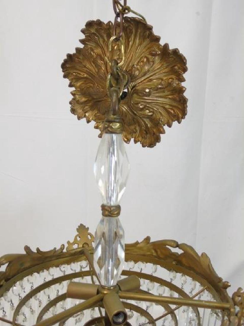 Bronze & Crystal Drop Tiered Chandelier - 4