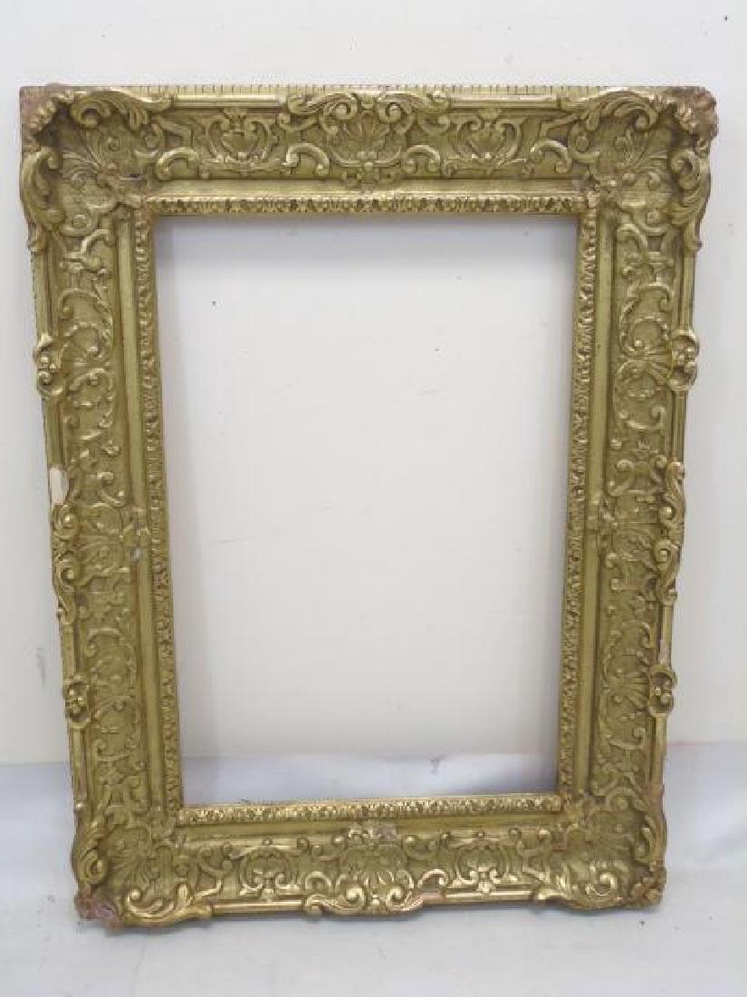 Antique Impressionist Style Gilt Wood Frame