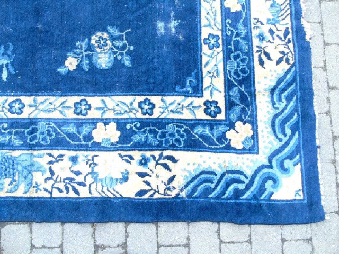 Chinese Art Deco Rug, Shades of Blues & Cream - 2