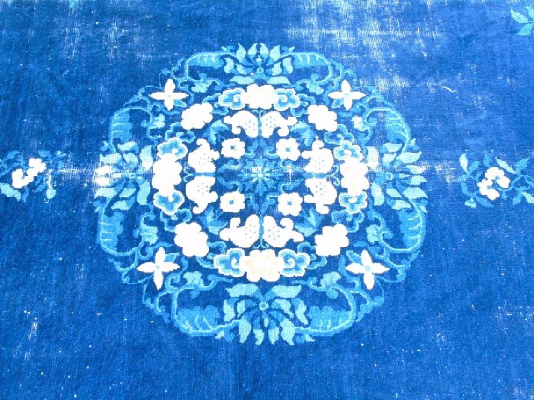 Chinese Art Deco Rug, Shades of Blues & Cream - 3
