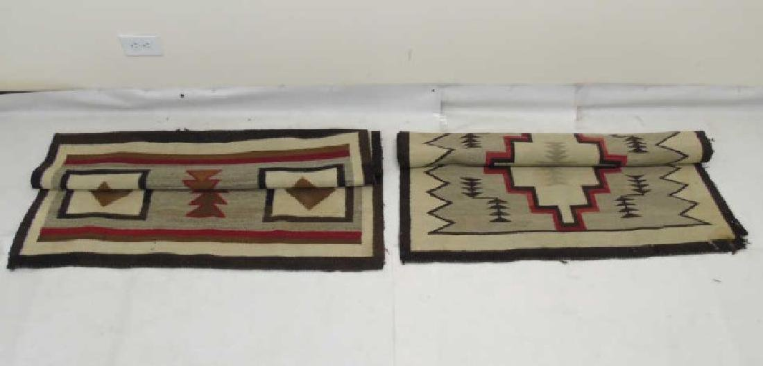 Two Heavy Fabric Woven Earthtone Rugs