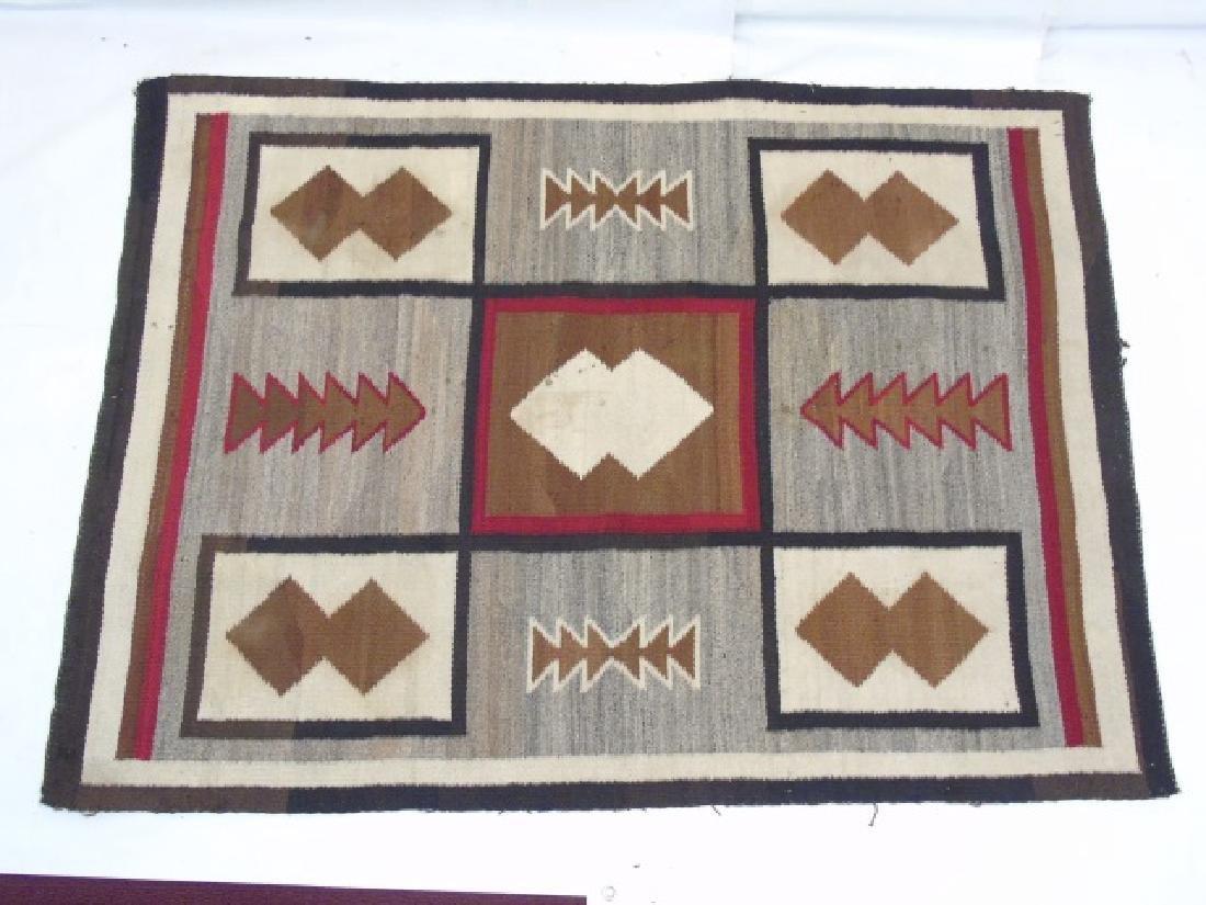 Two Heavy Fabric Woven Earthtone Rugs - 3