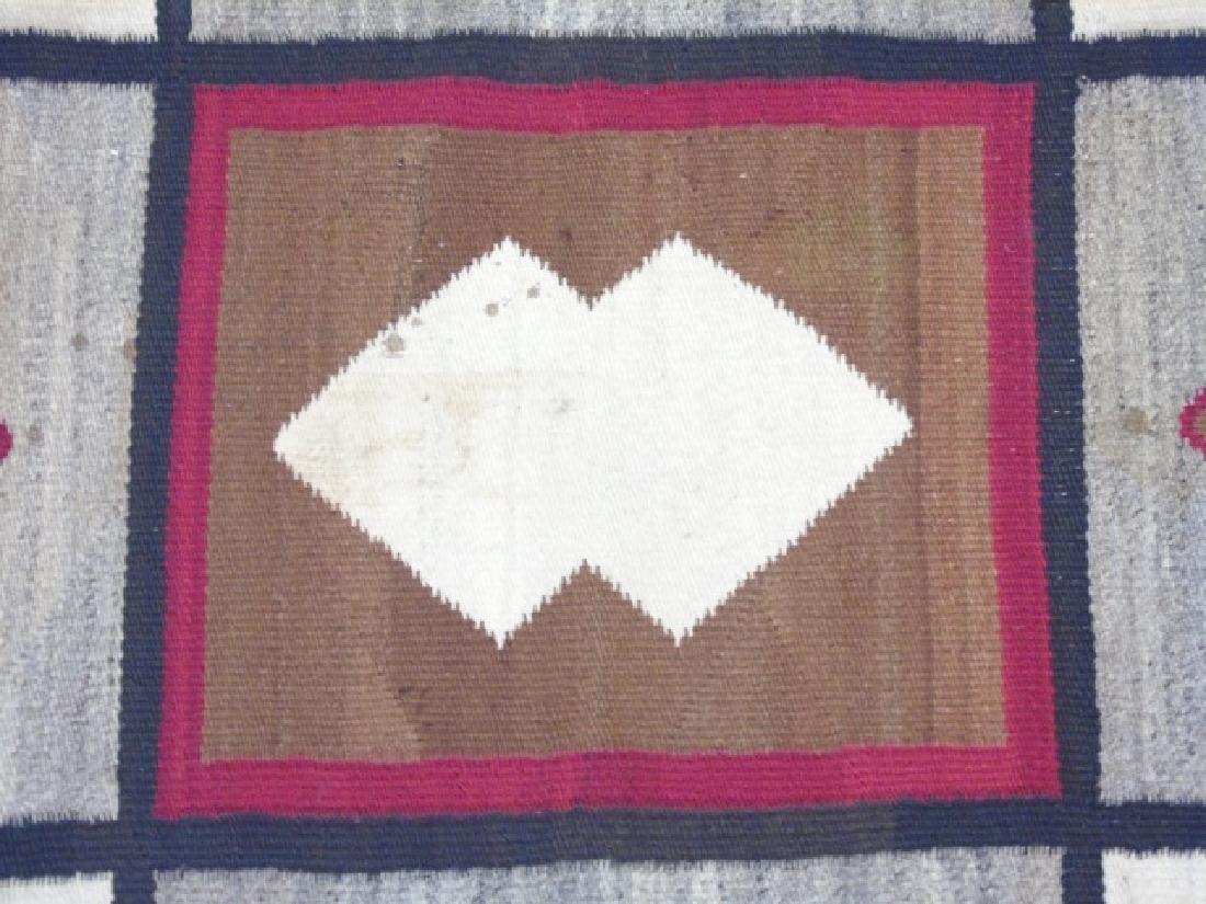 Two Heavy Fabric Woven Earthtone Rugs - 4