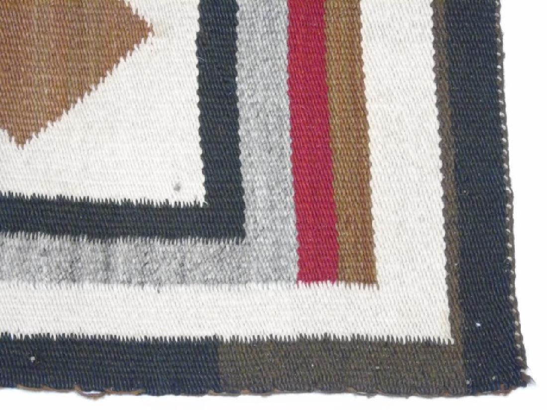 Two Heavy Fabric Woven Earthtone Rugs - 5