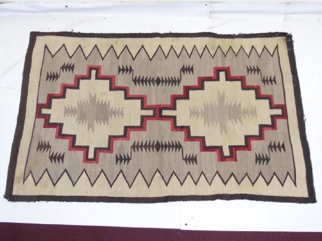 Two Heavy Fabric Woven Earthtone Rugs - 6