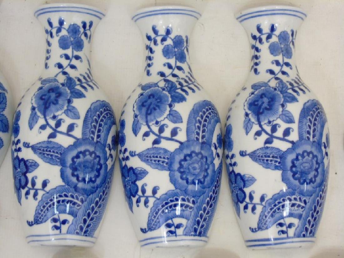 Large Group of Blue & White Porcelain Wall Pockets - 2