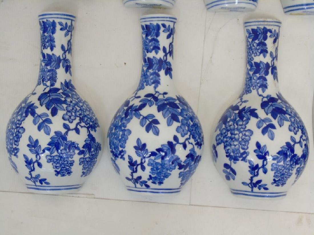 Large Group of Blue & White Porcelain Wall Pockets - 5