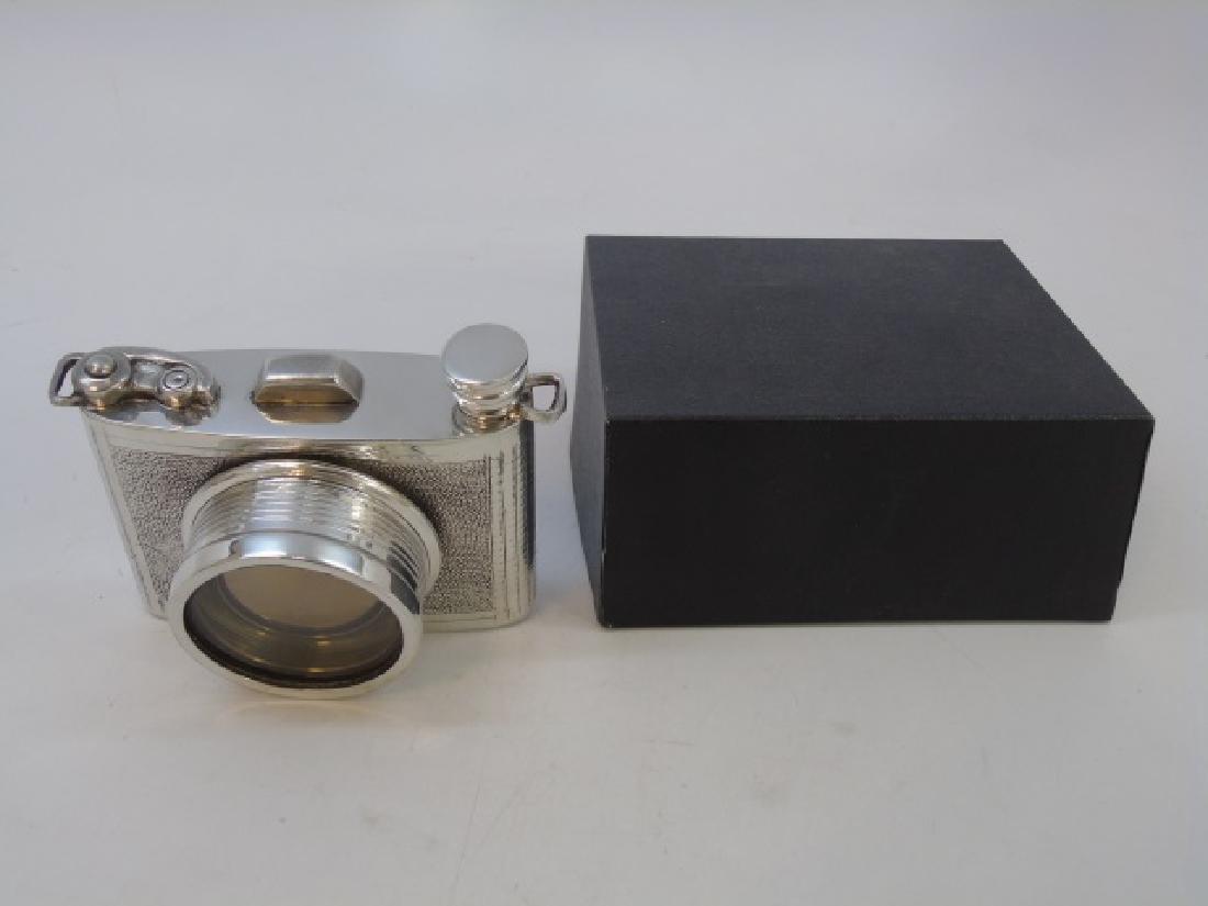 Sheffield English Pewter Camera Shaped Flask NIB