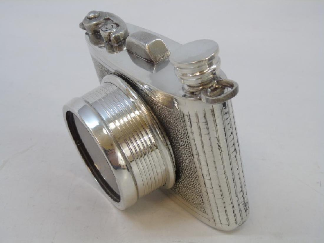 Sheffield English Pewter Camera Shaped Flask NIB - 4