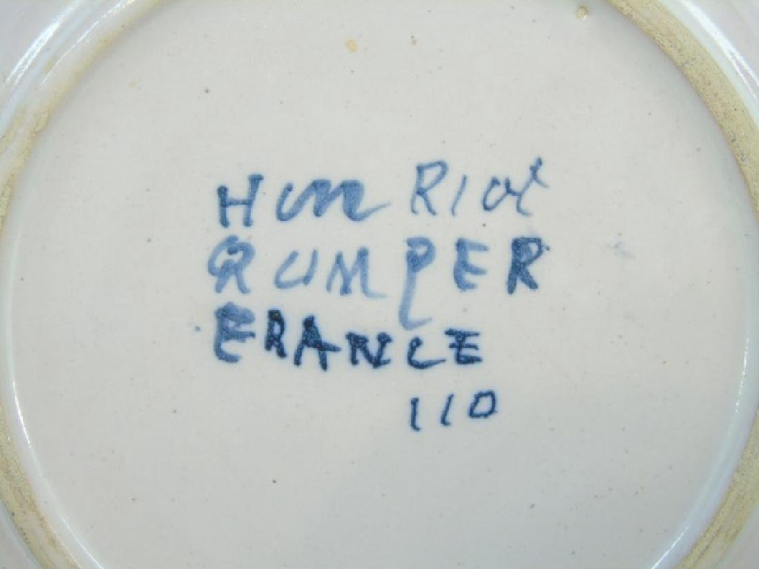 Vintage Quimper Faience Pinch Pitcher & 5 Plates - 3