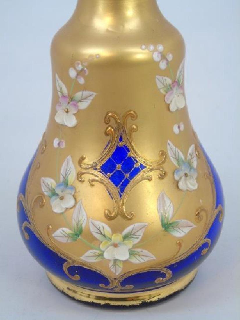 Venetian Murano Glass Enamel Decorated Set - 2