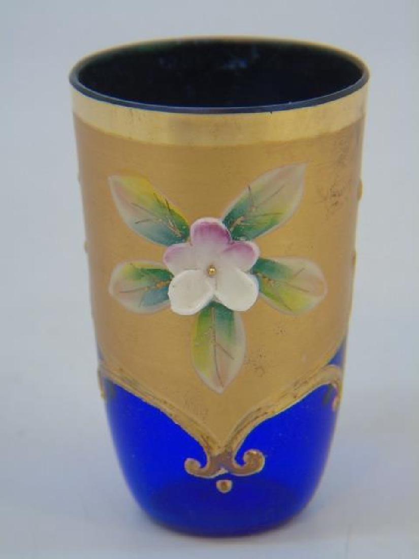 Venetian Murano Glass Enamel Decorated Set - 5