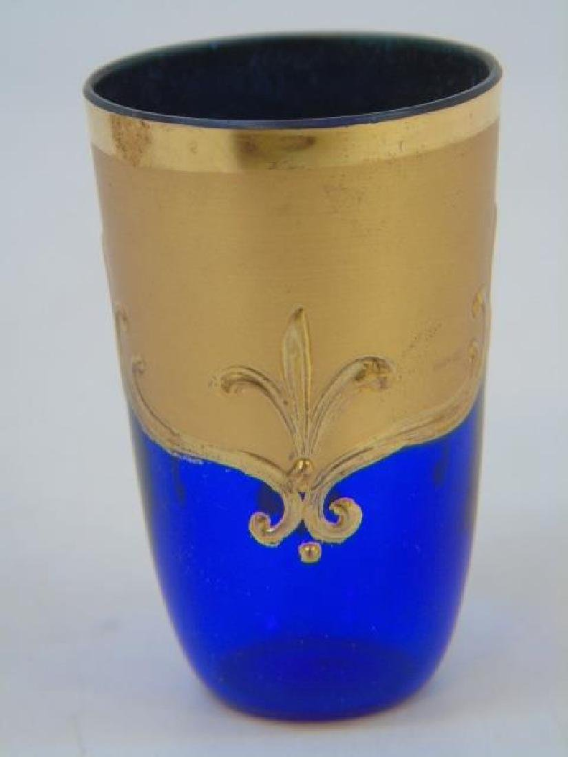 Venetian Murano Glass Enamel Decorated Set - 6