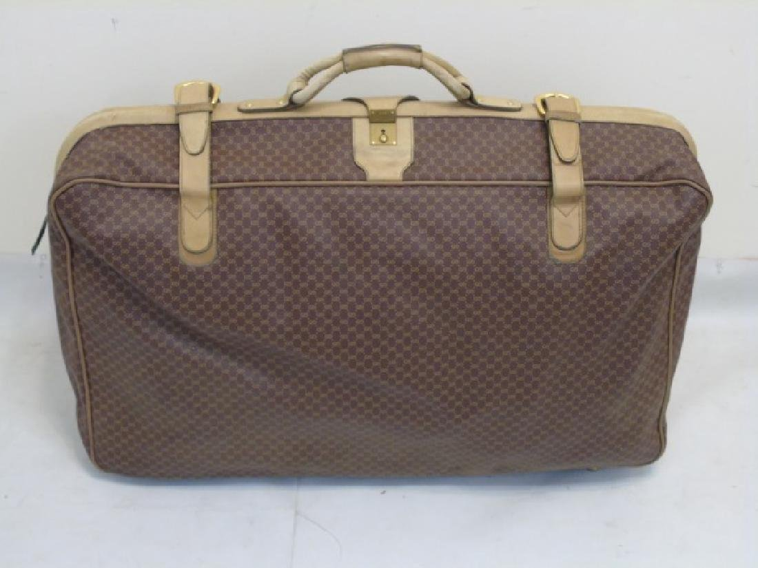 Vintage Luggage Gucci Monogram Large Suitcase