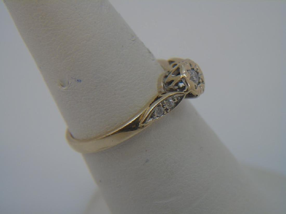 Antique Estate Gold & Diamond Engagement Ring