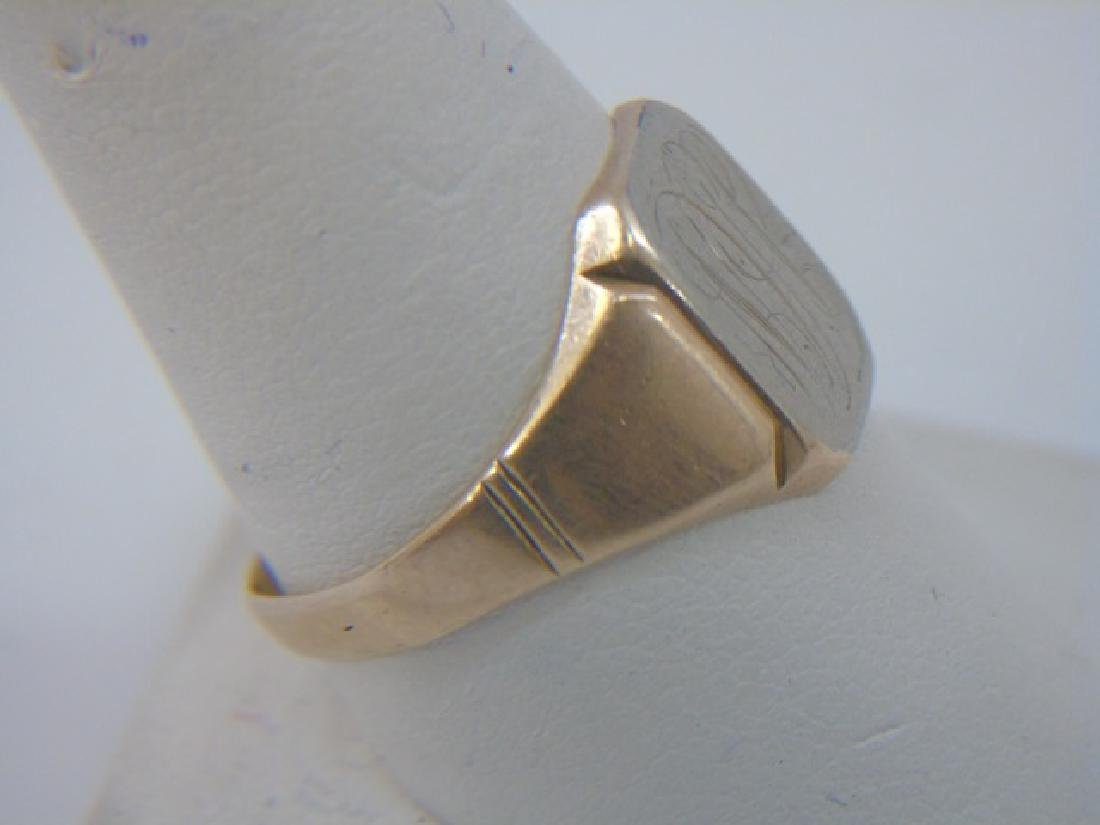 Antique Estate Yellow Gold Signet / Initial Ring