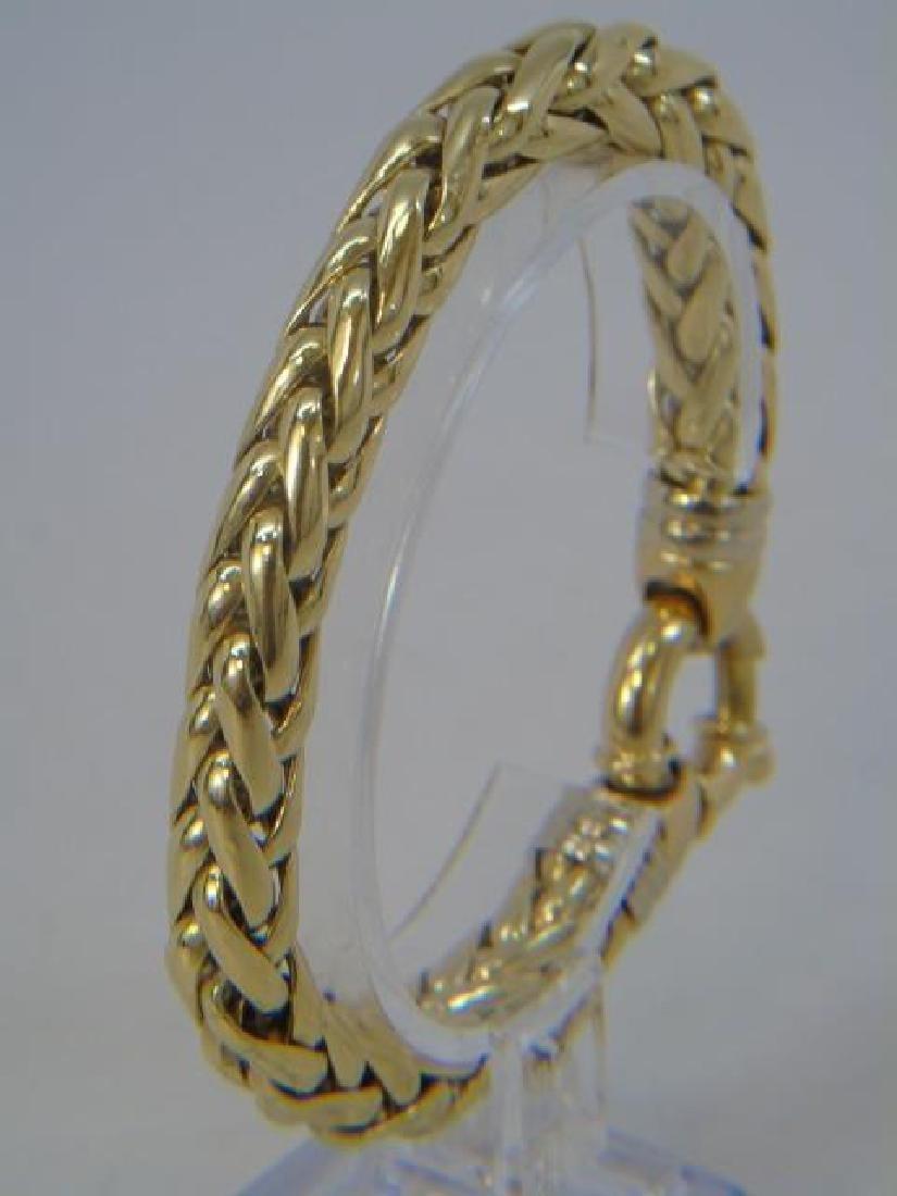 Estate 18kt Italian Gold Woven Motif Bracelet
