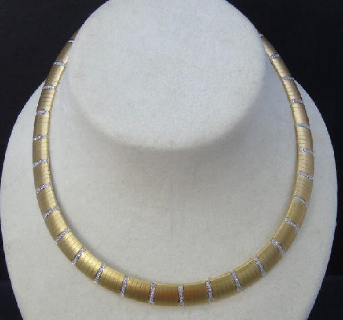 Estate 18kt Yellow Gold & 2 Carat Diamond Necklace