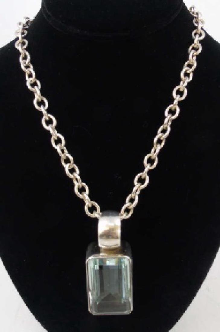 Sterling Silver Chain & Mexican Sterling Pendant