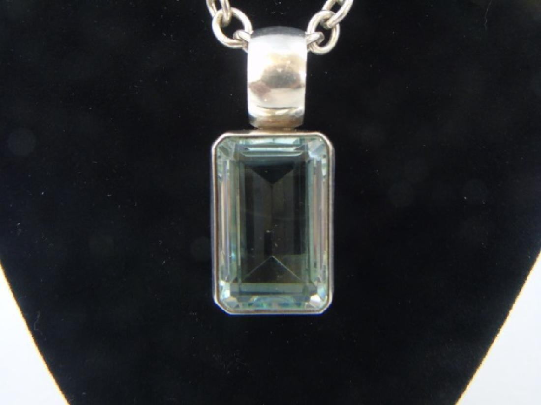 Sterling Silver Chain & Mexican Sterling Pendant - 3