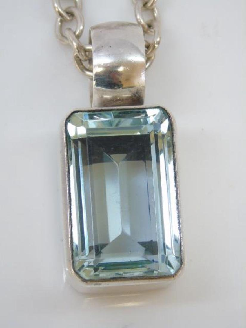 Sterling Silver Chain & Mexican Sterling Pendant - 4