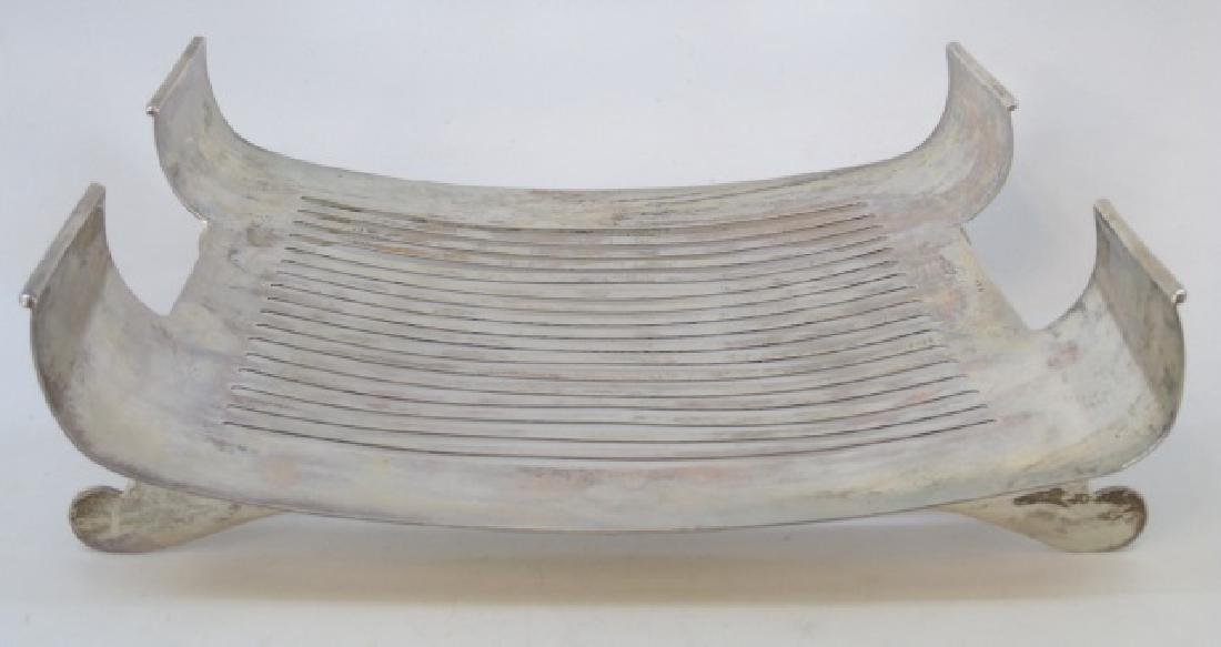 800 Silver Footed & Slotted Service Dish