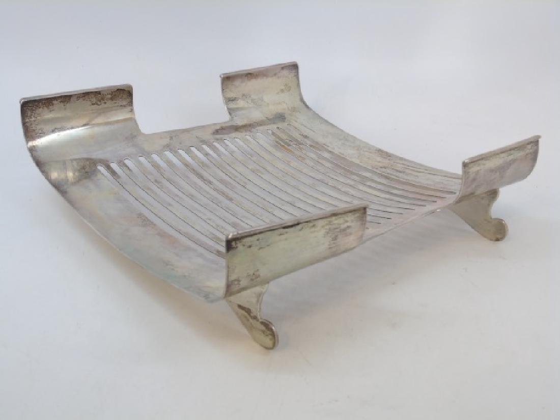 800 Silver Footed & Slotted Service Dish - 3