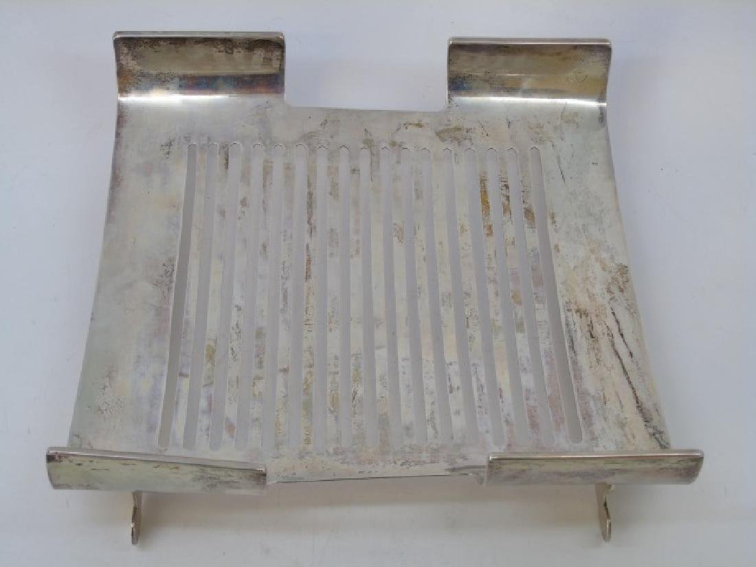 800 Silver Footed & Slotted Service Dish - 4