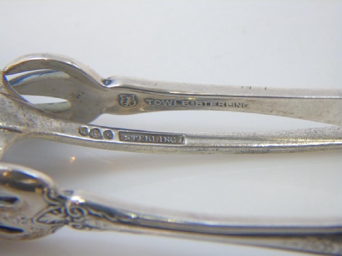 Sterling Silver - Towle Tongs & Enamel Spoon - 2